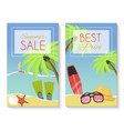 summer sale set of banner brochures flyers vector image