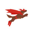 superhero dog character jumping super dog dressed vector image vector image
