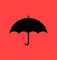 umbrella flat design vector image vector image