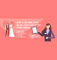 wedding agency vector image vector image