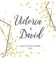wedding gold dot 5 vector image vector image