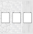 white textures with placards vector image