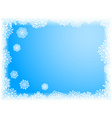 Winter background vector image vector image
