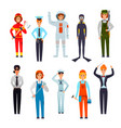 women professions flat characters set vector image vector image