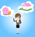 Women who plan to save money vector image