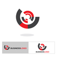 Abstract business logo and icon vector image