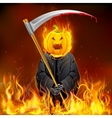 Burning Halloween Grim vector image