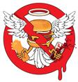 cheeseburger ban vector image