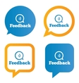 Feedback speech bubbles with smile vector image