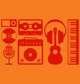 Music instrument background flat design vector image