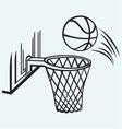 Basketball board vector image