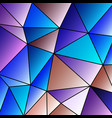 abstract vitrage with triangular multi colors grid vector image