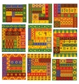 african ethnic patterns and ornaments vector image