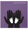 bafeet in mother s hands vector image