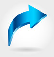 blue rising arrow growing business concept vector image