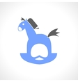 Blue rocking horse for children vector image vector image