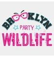 brooklyn wildlife party vector image