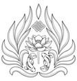 Buddhism symbols pattern