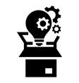 bulb gear box icon simple style vector image