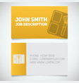 business card print template with blusher logo vector image vector image