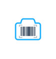 camera barcode logo icon design vector image