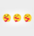 care reactions new emoticon 2020 high quality vector image vector image