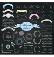 Chalk Drawing Design Elements and Ribbons vector image