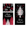 christmas sketchy set in card no transparency no vector image vector image