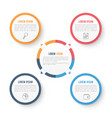 circle infographic template with four elements vector image vector image