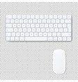 computer keyboard with mouse isolated transparent vector image vector image