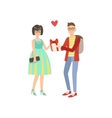 Couple In Love Man Gifing A Gift vector image vector image