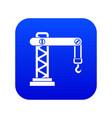 crane icon digital blue vector image vector image