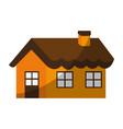 cute one story house with chimney icon image vector image vector image