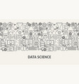 data science banner concept vector image vector image