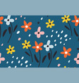 ditsy floral backgroundcute pattern in small vector image vector image