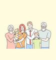 family portrait motherhood fatherhood vector image