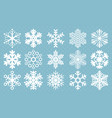Flat design line snowflakes icon set