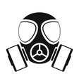 Gas mask simple icon vector image vector image