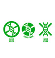 gmo free label no gmo added package icon vector image vector image
