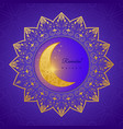 greeting card invitation for muslim community vector image