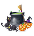 happy halloween cartoon vector image vector image