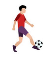 isolated children playing soccer icon vector image
