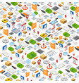 isometric icons background vector image