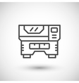 Laser machine line icon vector image vector image