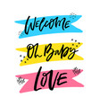 lettering hand drawn set vector image