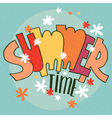 Lettering Summer Time vector image