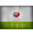 medical cardio heart grey green vector image vector image