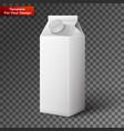 milk juice beverages carton package blank vector image vector image