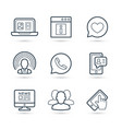 network social media icon pack eps 10 vector image