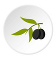 olive icon circle vector image